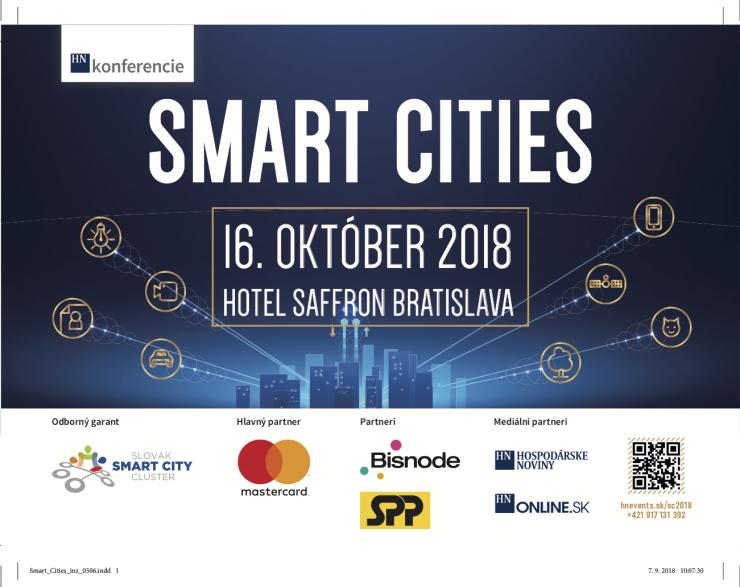 """SMART  CITIES  2018 """"Od vízií k efektívnym inováciám"""""""