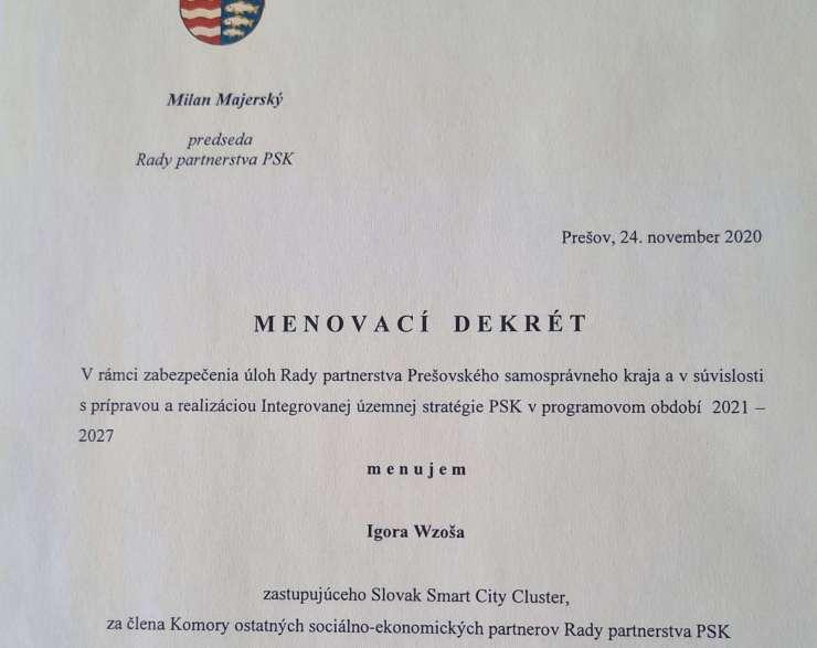 SSCC je súčasťou Rady partnerstva PSK